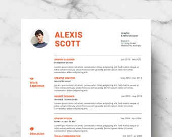 Professional Resume Template - CV Template for MS Word - Creative Resume - Modern Resume Design - Resume Instant Download