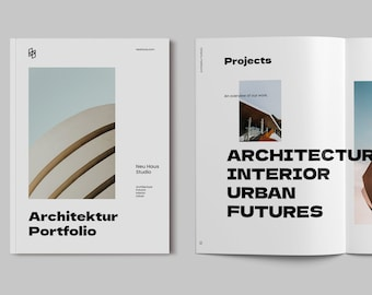 Architecture Portfolio Template - Architecture Brochure - Photography Portfolio - Photo Album - InDesign Template