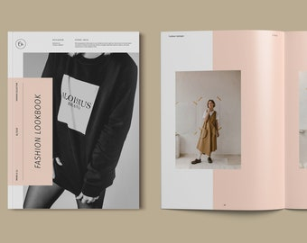 Fashion Catalog / Lookbook Template - Fashion Brochure - Fashion Catalog - Photo Album - InDesign Template - Instant Download