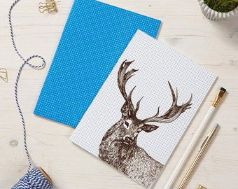 2 pack Stag Notebooks / Reindeer Notepads