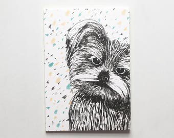 Pack of 3 Yorkshire Terrier Notepads / Terrier Notebooks / Dog Jotters