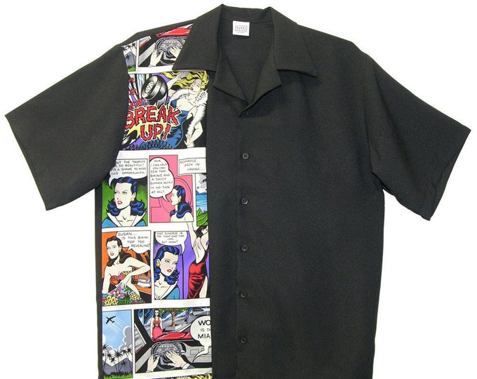 Mens Bowling Shirts - Free Shipping - Comic Strip Design