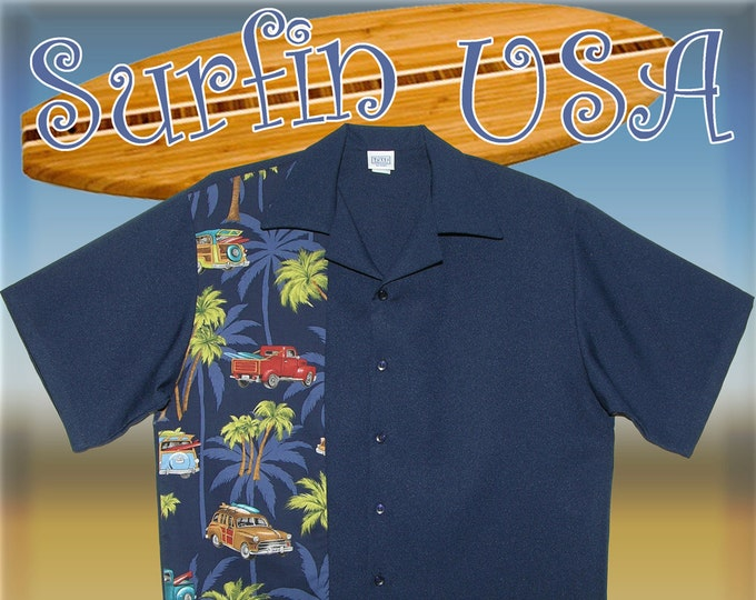 Bowling Shirts - Free Shipping - Hawaiian Surfin USA Design