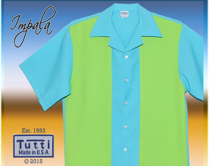 Bowling Shirts - Free Shipping - Impala Retro Bowling Style Street Wear Men's Shirt