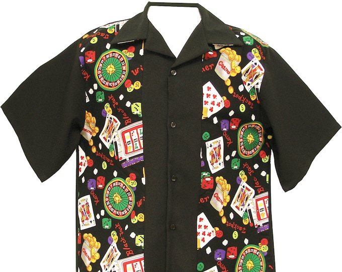 Men's Bowling Shirt - Free Shipping - CASINO Games Print Design