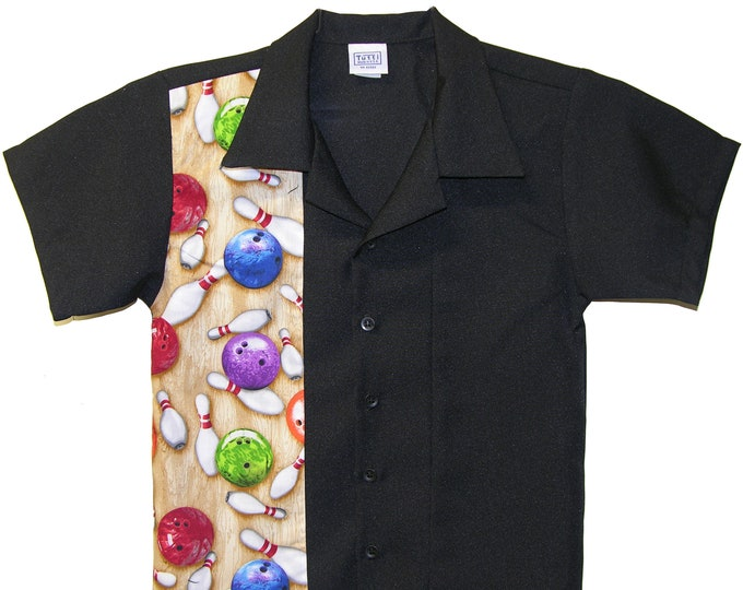 Kids Bowling Shirt - Free Shipping - Bowling Balls and Bowling Pins Design