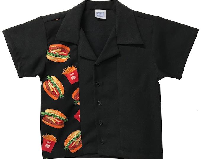 Kids Shirt - Free Shipping - Burger and Fries Print Design