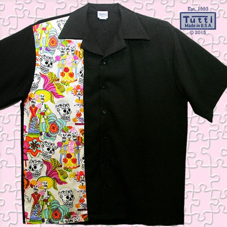 6a50b0c415faa Bowling Shirts - Free Shipping - Skull Rockabilly Rebel Party Shirts
