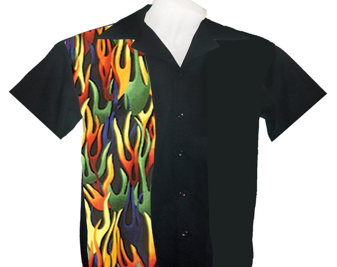 Kids Bowling Shirts - Free Shipping - Multi Color Flame