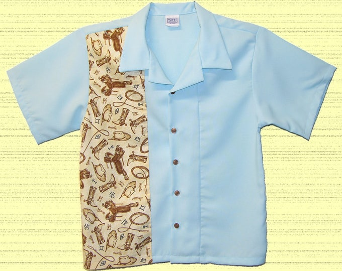 Kids Boys Shirts - Free Shipping - Vintage Buckaroo Western Print