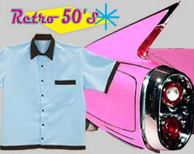 Bowling Shirts - Free Shipping - Retro 50's Style available in 13 Colors