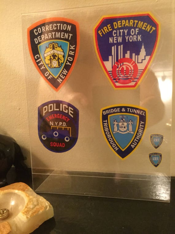 Nassau County /& NYS POLICE 4 InW//shield *Authentic Decal Stickers NYC HWY NYC