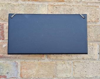 Oblong Chalkboard Blank Large Blackboard Memo Board, Choice of Design, Chalkboard Blackboard Large portrait, 30cm