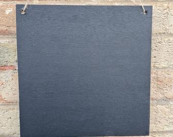 Sqaure Chalkboard Blank Large Blackboard Memo Board, Choice of Design, Chalkboard Blackboard Large portrait, 30cm