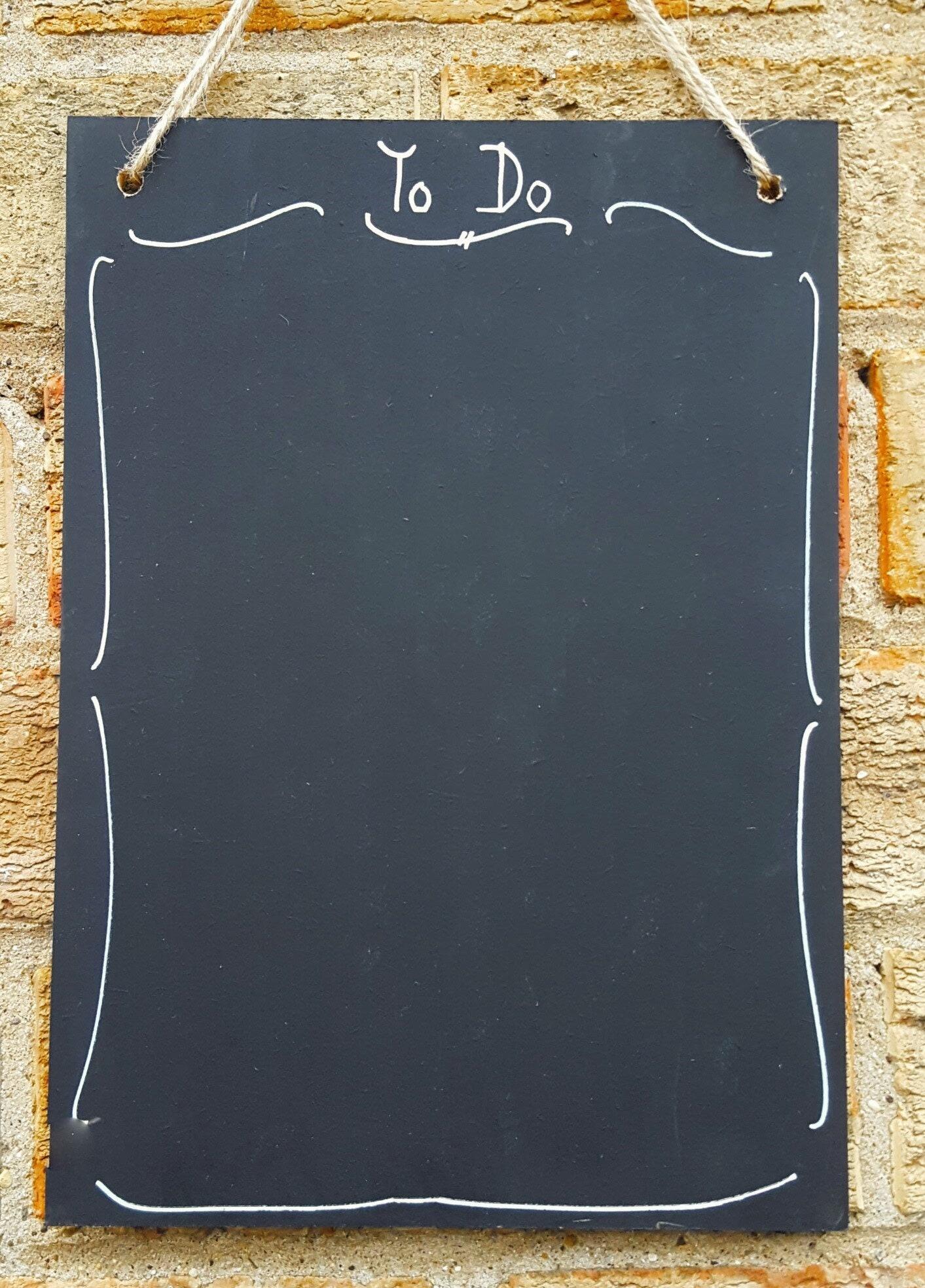 A3 Chalkboard Menu Shabby Chic Landscape Large Blackboard Free P/&P 30cm x 42cm