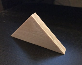Craft Wood 25- Various Sized Wood Triangles Wood Shapes Triangles Wood Triangle Blocks 58 Thick Craft Wood Triangles Wood Triangles