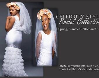 Peachy Wedding Headpiece