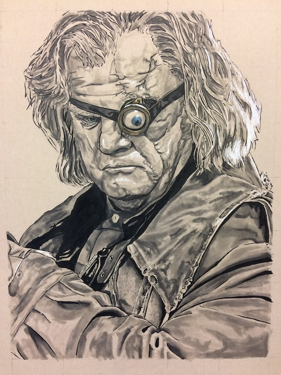 Mad-Eye Moody Fan Art Watercolor Print