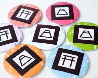 "Onmyoji purple talisman button pin pinback 2.25"" summon shikigami"