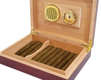 Customized Cigar Humidor with Rosewood Piano Finish