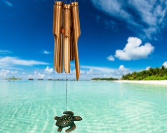 Turtle Wind Chime Etsy