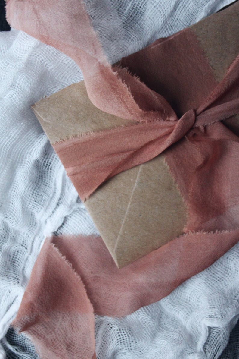 MAUVE organic hand-dyed silk ribbon