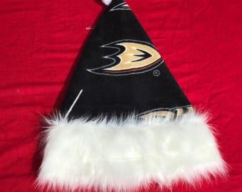 Ducks hockey santa hat, santa hat, personalize