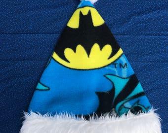 Batman santa hat, santa hat, holidays, personalize