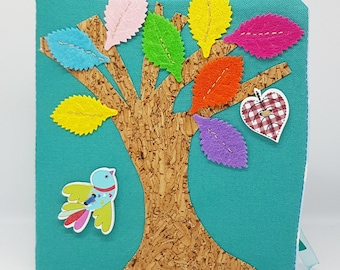 Tree Baby  Book, quiet book, Montessori Toy, play book, sensory toy, travel toy, educational toy (from 6 months old ).