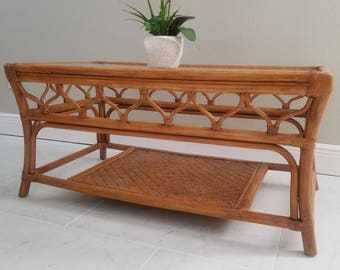 Antique Chinese Bamboo Coffee Table