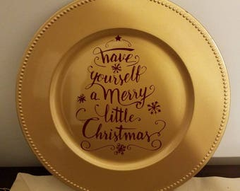 more colors decorative christmas charger plates