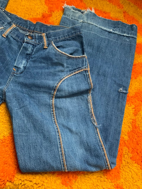 Vintage 1970's 1970's /28in/ detailed bell bottom… - image 6