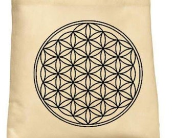 Flower of Life Tote Bag - Crystal Grid/Metaphysics/Witch Carryall