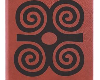 Dwennimmen Engraved Journal - Notebook/Book of Shadows/Handmade/ADINKRA