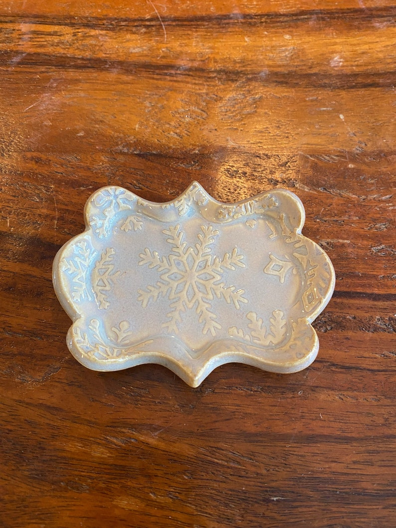 Handmade Ceramic Trinket Dish Rectangular