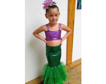 bf576ad25d1c FREE SHIPPING / walkable mermaid ariel little mermaid tail costume little girl  mermaid costume toddler mermaid tail