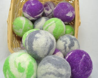Natural Wool Dryer Balls handmade pure wool