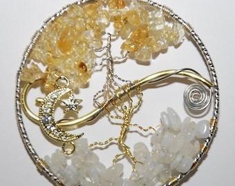 Citrine/Moonstone (Sun and Moon) Tree of Life