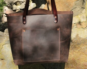 Large leather tote bag 054b220356040