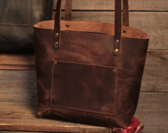 Small Leather Tote Bag for Women Small Leather Bag Leather Crossbody Bag  Small Handbag Italian Brown Bridesmaid Gifts - Lifetime Leather b182893cf8876