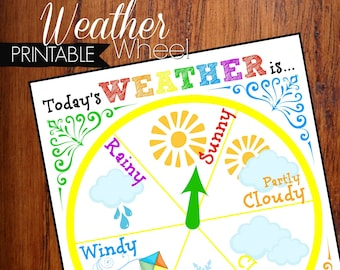 Weather Wheel Educational Printable Circle Time Learning Tool