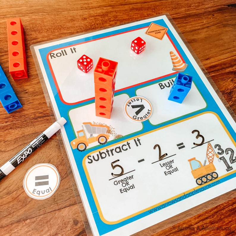 graphic regarding Order of Operations Game Printable named Subtraction Recreation, Math Cube Video game Printable, Homeschool Worksheet, Little ones Math Recreation, Kindergarten Counting Prepare, Variety Really feel Recreation