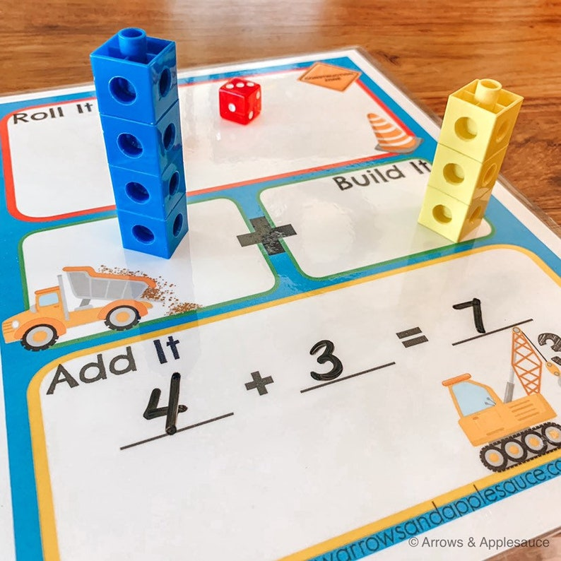 image about Printable Math Dice Games called Math Cube Recreation, Printable Young children Addition Match, Homeschool, Counting Teach, Snap Cubes Worksheet, Kindergarten Enlightening Finding out Resource