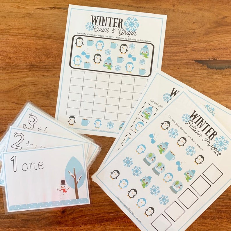 picture relating to Preschool Math Games Printable known as Preschool Math Printable Wintertime Video game Pack, Homeschool Printables, Preschool Curriculum, Young children Math Game titles, Wintertime Topic Routine Graphing