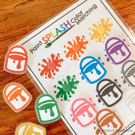 Color Sorting Matching Paint Splash Game, Printable Toddler Preschool  Learning Tool, Kindergarten, Homeschool, Kids Activity, Educational