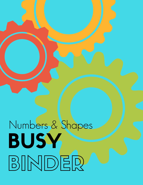 Numbers & Shapes Busy Binder Printable Preschool Curriculum | Etsy