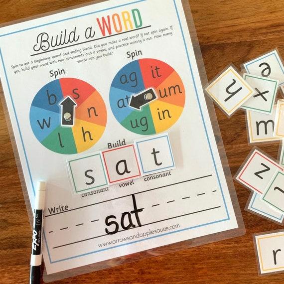 CVC Reading Game, Printable Sight Word Practice, Beginning Phonics  Activity, Learning To Read, Homeschool, Preschool Kindergarten Printable