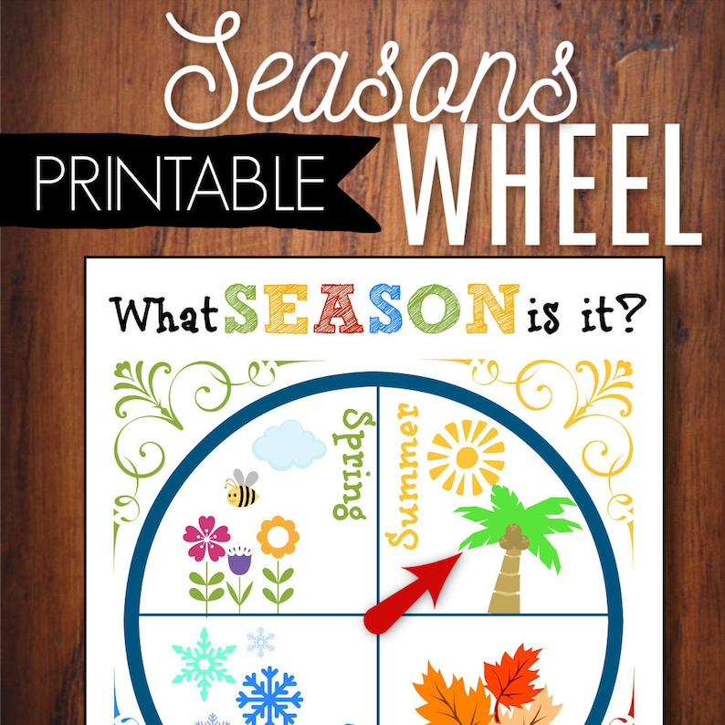 photo regarding Season Printable identified as Seasons Wheel Printable Circle Year Mastering Software, Spring Summer months Drop Wintertime, Useful, Youngsters Game, Homeschool, Preschool, Clroom