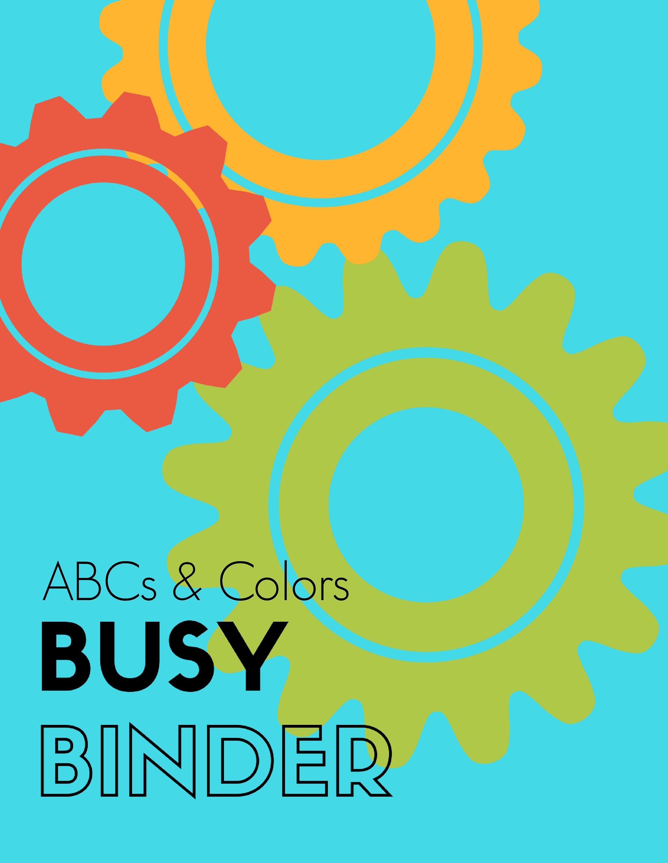 Alphabet Colors Busy Binder Busy Book Printable Preschool