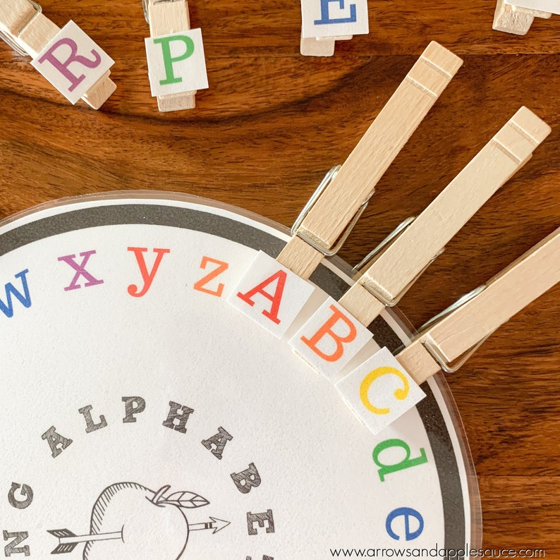 picture about Alphabet Matching Game Printable referred to as Alphabet Matching Wheel, Uppercase Lowercase, Occupied Binder Recreation, Preschool Kindergarten Match, Discovering Match, Homeschool Printable